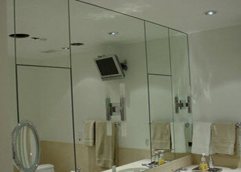 custom mirrors in bathroom